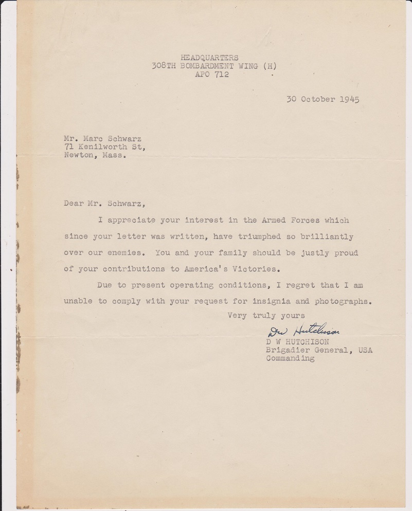 how to ask for a letter of recommendation from employer typed letter signed dated 30 october 1945 brig 27072