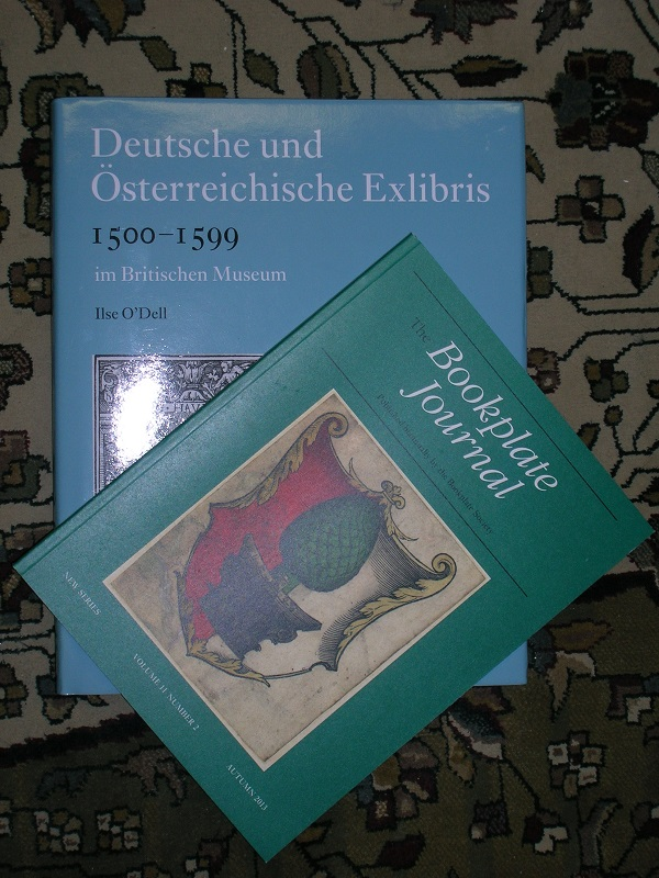 """Deutsche und Osterreichische Exlibris 1500-1599. [with] """"The Bookplate Journal"""" New Series, Volume II, Number 2, with English translation of the introduction. Ilse O'DELL."""