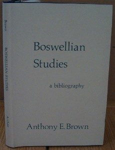 Boswellian Studies. A Bibliography. Anthony BROWN.