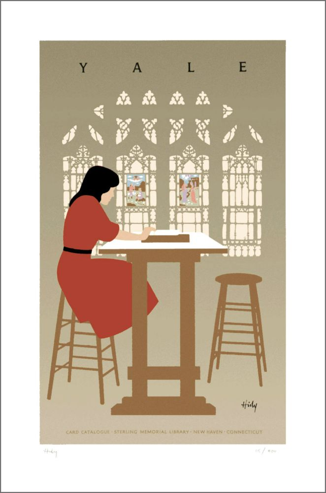 Yale, Card Catalogue, Sterling Memorial Library. [Poster]. Lance HIDY.