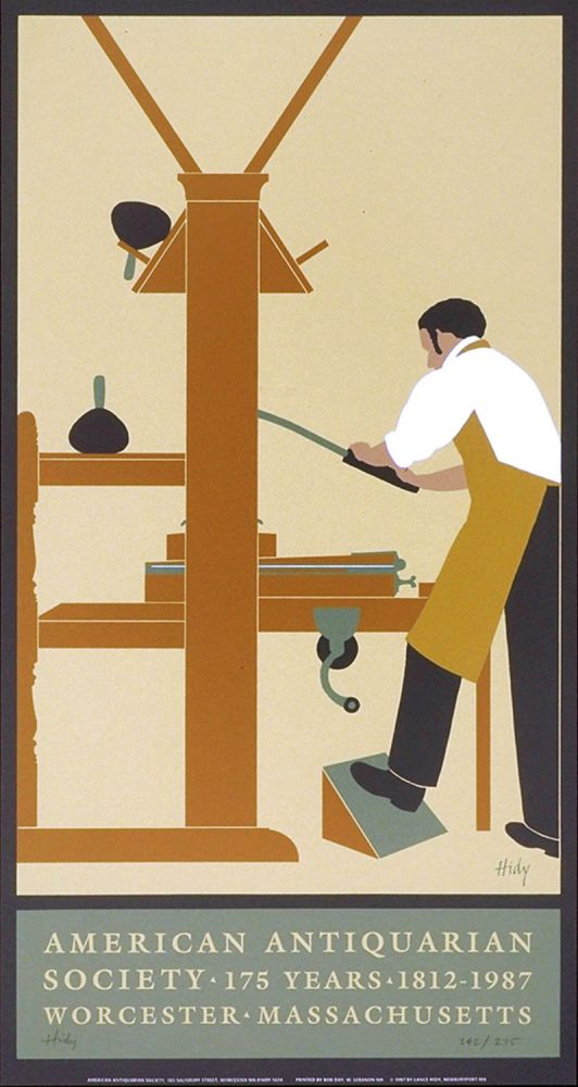 American Antiquarian Society. [Poster]. Lance HIDY.