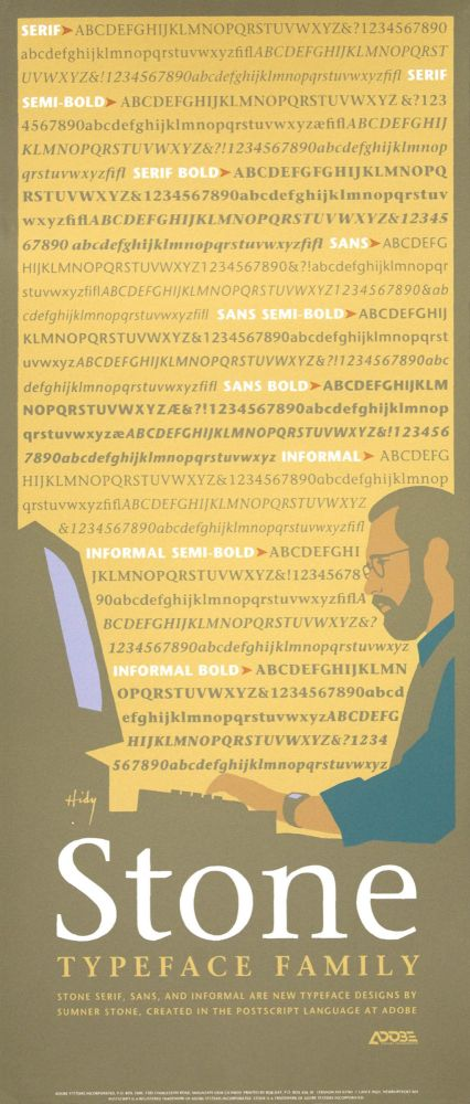 Stone Typeface Family. [Poster]. Lance HIDY.