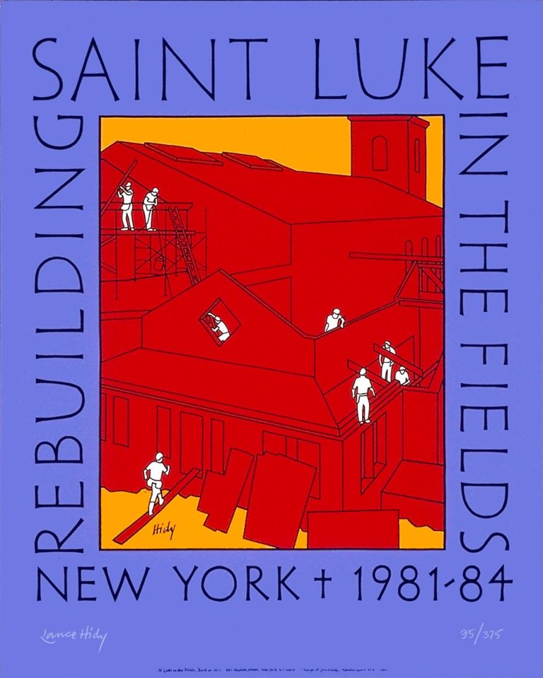 Rebuilding Saint Luke in the Fields. [Poster]. Lance HIDY.