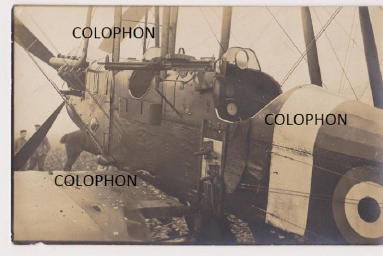Original War-Date German contact print photograph of captured BE2d No. 6254.