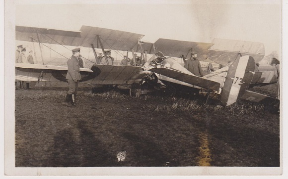 Original German contact print photograph of captured BE2c. Downed by Boelcke.