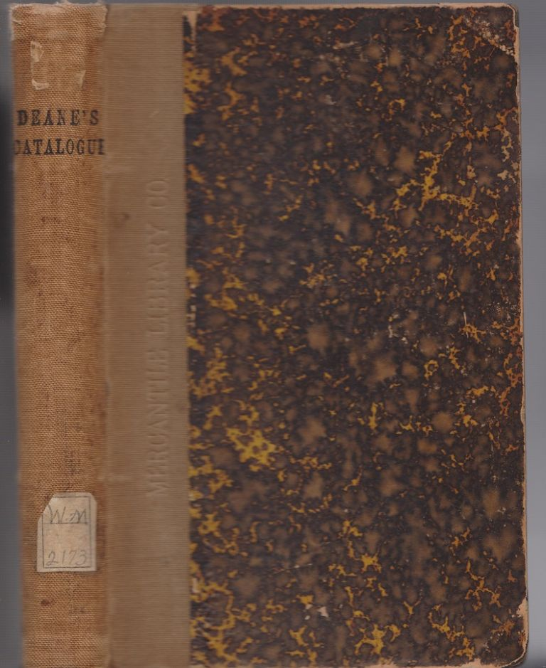 Catalogue of the Valuable Private Library of Charles Deane, LL.D. Two parts. Complete.