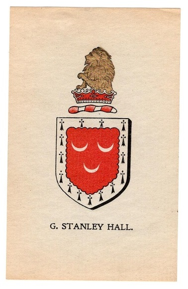 Bookplate of G. Stanley Hall.