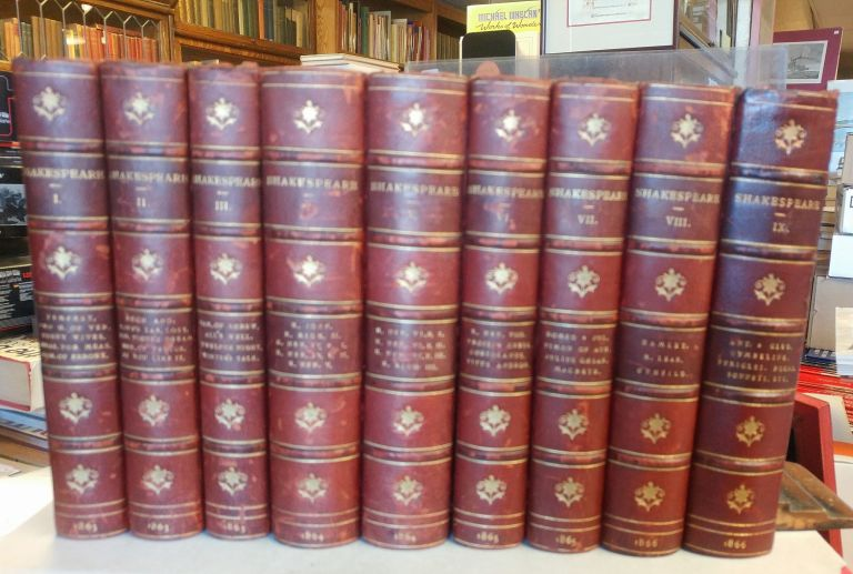 The Works of William Shakespeare. Edited by William George Clark and John Glover. Nine Volumes, complete. William SHAKESPEARE.