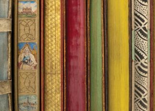 Edges of Books. Specimens of Edge Decoration from RIT Cary Graphic Arts Collection.