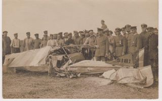 Original German contact print photograph of crashed Morane BB.