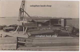 Original contact print photograph of a Short Seaplane. 1917