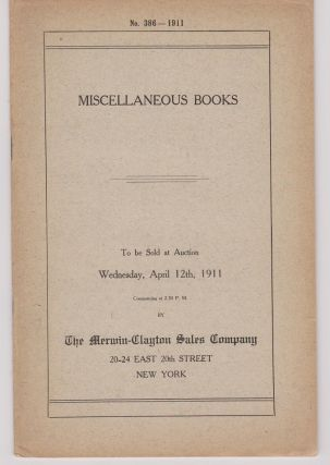 Miscellaneous Books. (Cover title