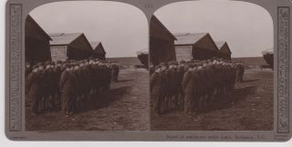 "Stereoview of ""Squad of mechanics under Lieut Robinson, V.C."""