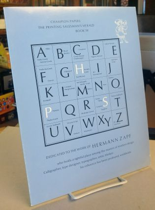 The Printing Salesman's Herald Book 39. Dedicated to the Work of Hermann Zapf
