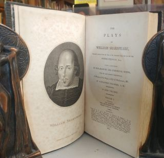 The plays of William Shakspeare: accurately printed from the text of the corrected copy left by the late George Steevens, Esq. With a selection of explanatory and historical notes, from the most eminent commentators; a history of the stage, a life of Shakespeare, &c. by Alexander Chalmers. Nine volumes, complete.