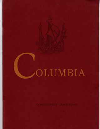 Columbia. Cut into four series: Roman & Italic, bold & bold Italic