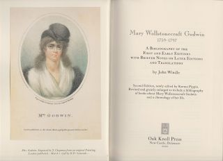Mary Wollstonecraft Godwin 1759-1797. A Bibliography of the First and Early Editions. John WINDLE